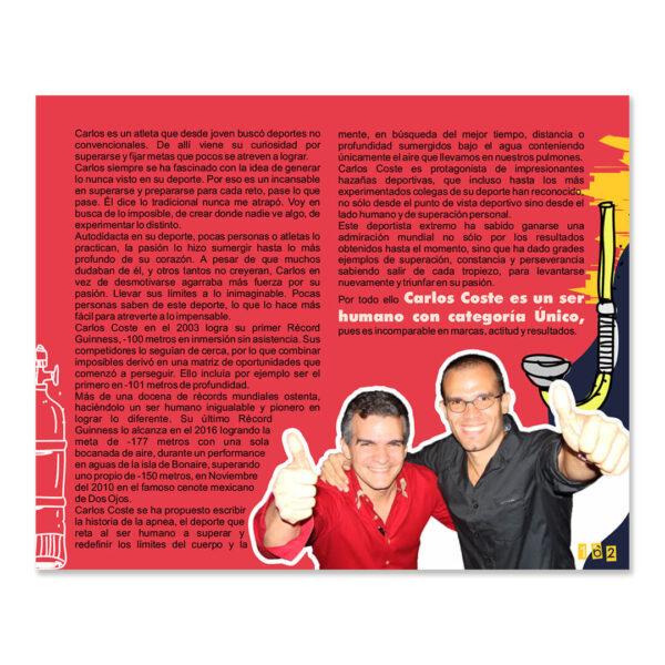 Página sobre Carlos Coste del libro Creatividad Wuaitrómica para conquistar imposibles de Juan Carlos Caramés Paz