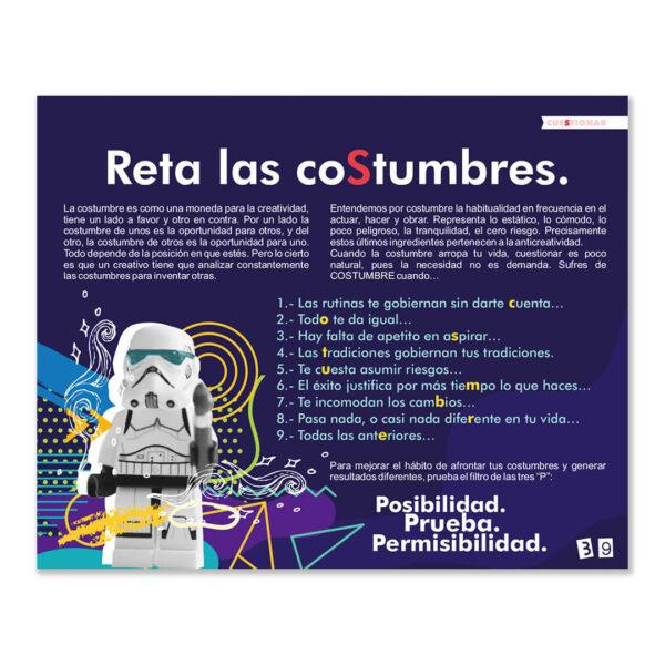 Página sobre Costumbres del libro Creatividad Wuaitrómica para conquistar imposibles de Juan Carlos Caramés Paz