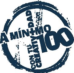 Logo del libro A Mínimo 100 con tu Creatividad